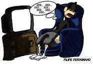 dormindo na tv